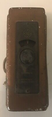 Vintage General Electric Room Thermostat Turn Dial & Case