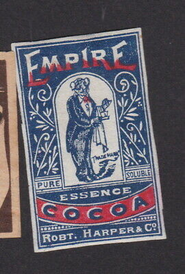 AE Old Matchbox label Sweden LLLLL40 Empire Man Cocoa