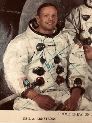 Autograph Neil Armstrong Signed Autographed NASA Photo
