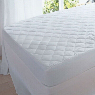 """Queen Waterproof Mattress Pad Cover Topper Protector 14- 18"""" Fitted Bed Sheet"""
