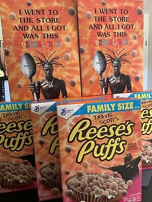 Travis Scott x Reese's Puffs Cereal Family Size Bulk of 4 Boxes