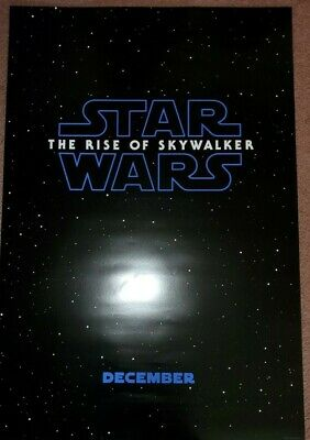 "STAR WARS RISE OF SKYWALKER Official Movie TEASER Poster 27"" X 40"" DS/Rolled"