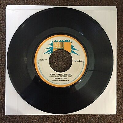 """Young, Gifted And Black - Bob And Marcia / Harry J Record Reggae 7"""" Rocksteady"""