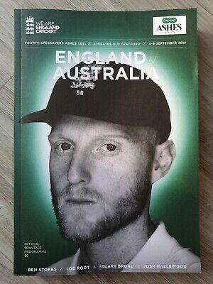 England V Australia 2019 Official Ashes 4Th Test Programme Old Trafford New