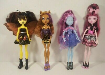 Monster High Dolls Lot of 4 Dolls Mattel See Description