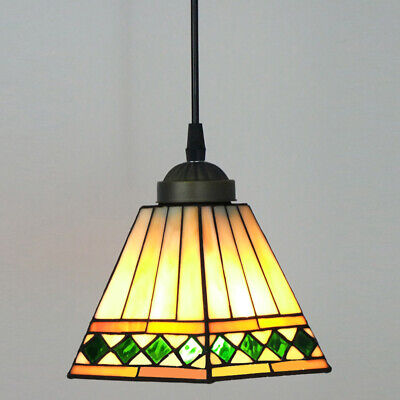 Handcrafted Moroccan Stained Glass Pendant Light Hanging