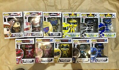 Funko Pop Power Rangers Lot Red Lord Zed Rita Blue Ranger & More No Reserve
