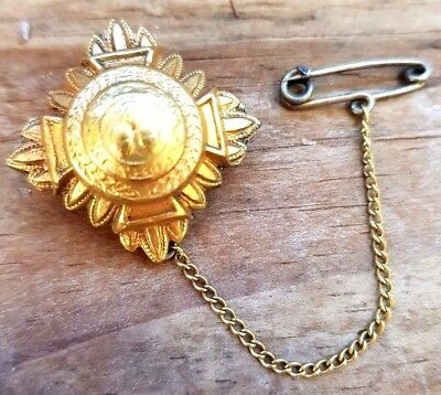 Antique Brooch Pinchbeck Victorian Gold Coloured Jewellery 1800s Vintage Jewelry
