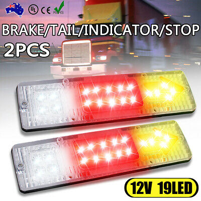 2 x 19 LED Ute Rear Trailer Tail Lights Caravan Truck Car Indicator Lamp AU 12V