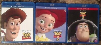 Toy Story Trilogy Collection Blu-ray Lot Complete Set Disney Pixar 2 3
