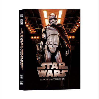 Star Wars:Season 1-8 Collection Complete Series 14-Disc DVD Set Exclusive Versio