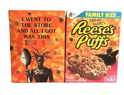 Travis Scott X Reeses Puffs Cereal Cactus Jack Limited Edition Family Size New