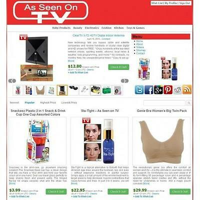 As Seen On TV Store Automated Affiliate  Website -  Free Installation + Hosting