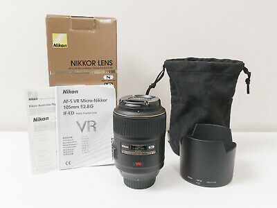Nikon 105mm F2.8 G IF-ED VR Micro-NIKKOR Full-frame Lens ~As New ~$801 with code