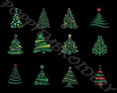 CHRISTMAS tree Designs for Embroidery machine-SAPIN NOEL motifs broderie machine