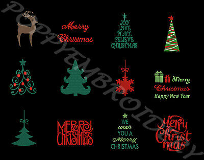 CHRISTMAS Designs for Embroidery machine- NOEL motifs broderie machine
