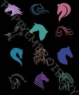 HORSE Designs for Embroidery machine- CHEVAL motifs broderie machine