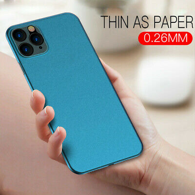 For Apple iPhone 11 Pro XS Max X 7 Ultra-thin Matte Frosted Hard Back Case Cover