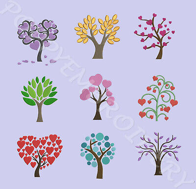 TREE Designs for Embroidery machine-  ARBRE motifs broderie machine