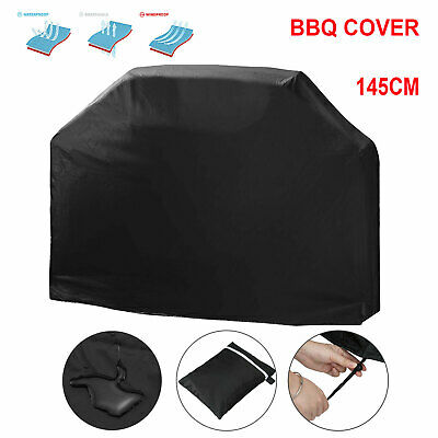 145cm Heavy Duty BBQ Cover Waterproof Medium Barbecue Grill Outdoor Protector