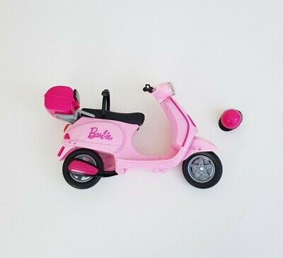Barbie Vespa Pink Scooter, Moped, Bike & Helmet - Mattel 2008