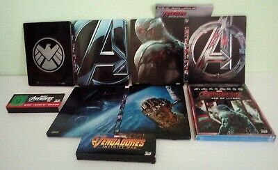 Steelbook Lotto Marvel Avengers Blu Ray 3D