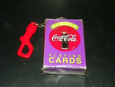 New Deck of Playing Cards  - Mini COCA COLA Miniatures w/ CLIP