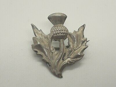 Antique victorian solid silver Scottish brooch...S & Co....
