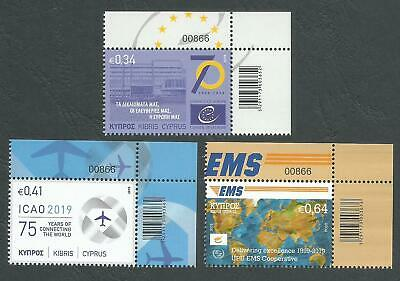 Cyprus Stamps 2019 Anniversaries and Events - Control numbers MINT