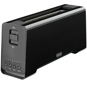 Cuisinart CPT2000BKU 2-Slice Extra Wide Long Slot Motorised Toaster with LED Cou