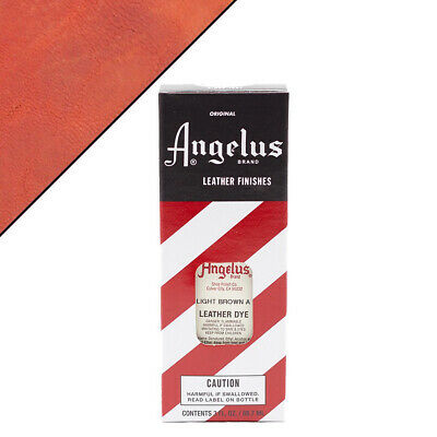C--022 Angelus Permanent Leather Dye With Applicator 3Oz Light Brown