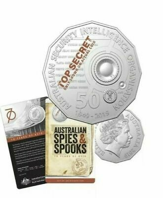 *FREE POSTAGE* 2019 AUSTRALIAN 50c ASIO SPIES & SPOOKS 70TH ANNIVERSARY UNC COIN