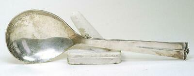 "Vintage Cohr Denmark Sterling Silver Sparta Large 8 3/4"" Serving Spoon 81 Grams"