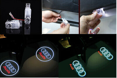 2X Audi Door Ghost Laser Projector Logo Courtesy Led Light