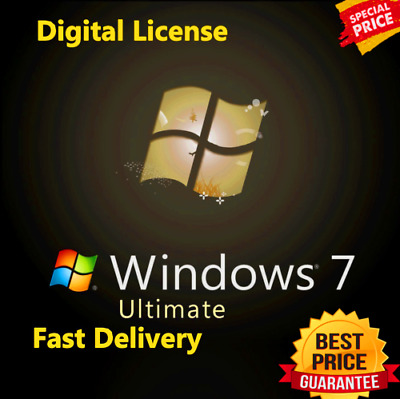 Windows 7 Ultimate SP1 🔐 Lifetime License Key 🔐 Instant Delivery (60s) 📥