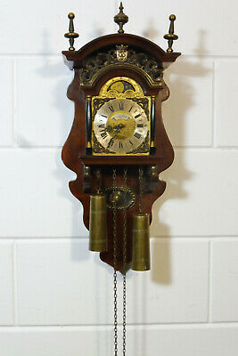 Dutch Wall Clock Warmink Wuba Nutwood Salander Old Clock
