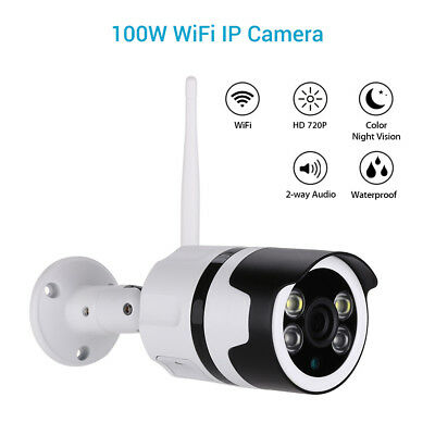 HD 720P Wireless WiFi IP Camera Smart Onvif Color Night Vision Outdoor Audio P2P