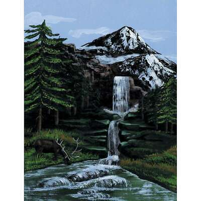 """Paint By Number Kit Artist Canvas Series 9""""X12"""" Mountain Waterfal 090672140159"""