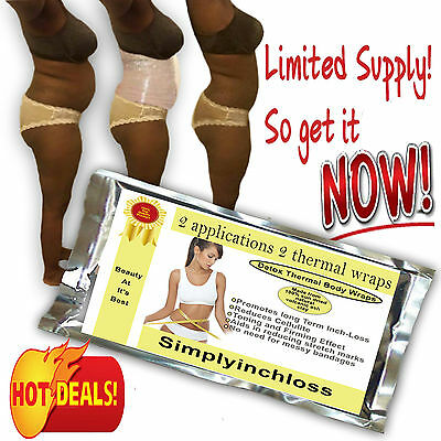 body wrap clay wrap  it works 4 inch loss shaping sauna weight watcher