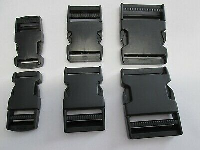 2 Sets Delrin Buckles Snap Buckle Fasteners 25mm, 40mm  50mm Strapping Buckles