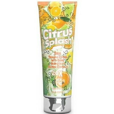 Citrus Splash Dark Tanning Lotion with Dual Bronzers & Firming -236ml Bottle