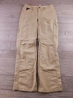 Patagonia Women's Nylon Hiking Camp Pants Size 0 Beige lightweight outdoors V204