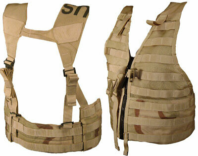 Military Issued 3 Color MOLLE II Load Carrying Vest-NEW