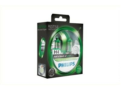 Philips | H4 ColorVision Grün 55W (2 Stk.) (12342CVPGS2) Glüh-/Leuchtstofflampen