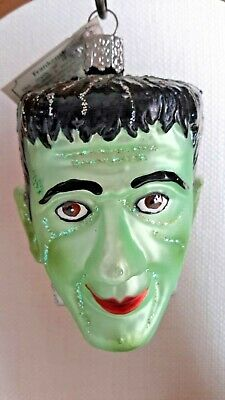 Old World Christmas Halloween Glass Ornament Frankenstein  Merck Owc Nwt 2005
