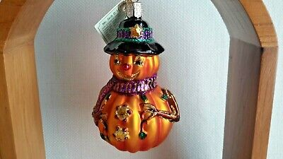 Old World Christmas Halloween Glass Ornament Mr. Jack O Lantern Merck Owc Nwt 03