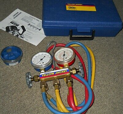 Yellow Jacket Series 41 Refrigerator Service Tools Test & Charge Manifold w Case