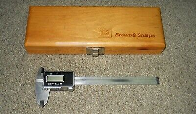 "Brown & Sharpe #599-573-9999 6"" Dial Caliper in Wood Case"