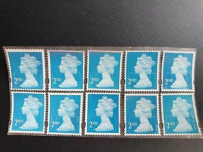 300 2nd class security stamps unfranked off paper with gum