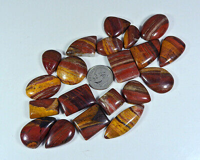 290Cts Natural Rainbow Jasper Mix Cabochon Loose Gemstone Lot 20Pcs Free Ship